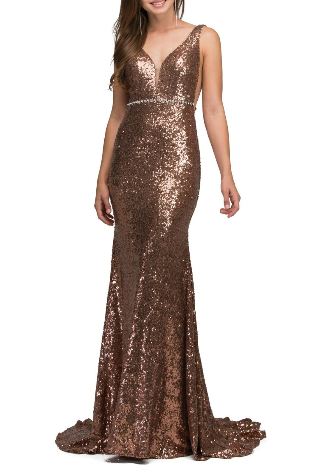 Lucci Lu Sequence Gown - Front Cropped Image