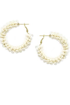 US Jewelry House Sequin And Seed Bead Wrapped Hoop Earrings - Product List Image