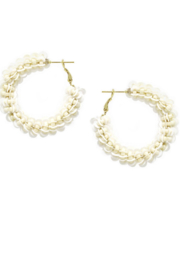 US Jewelry House Sequin And Seed Bead Wrapped Hoop Earrings - Product Mini Image