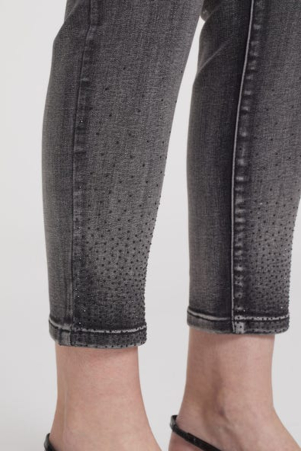 Tribal  Sequin Ankle Jeggings - Side Cropped Image