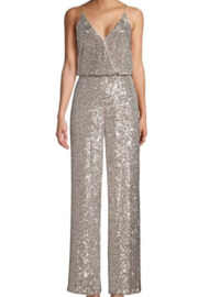Aidan by Aidan Mattox Sequin Blouson Jumpsuit - Product Mini Image