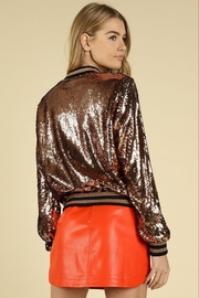 Honey Punch Sequin Bomber Jacket - Side cropped