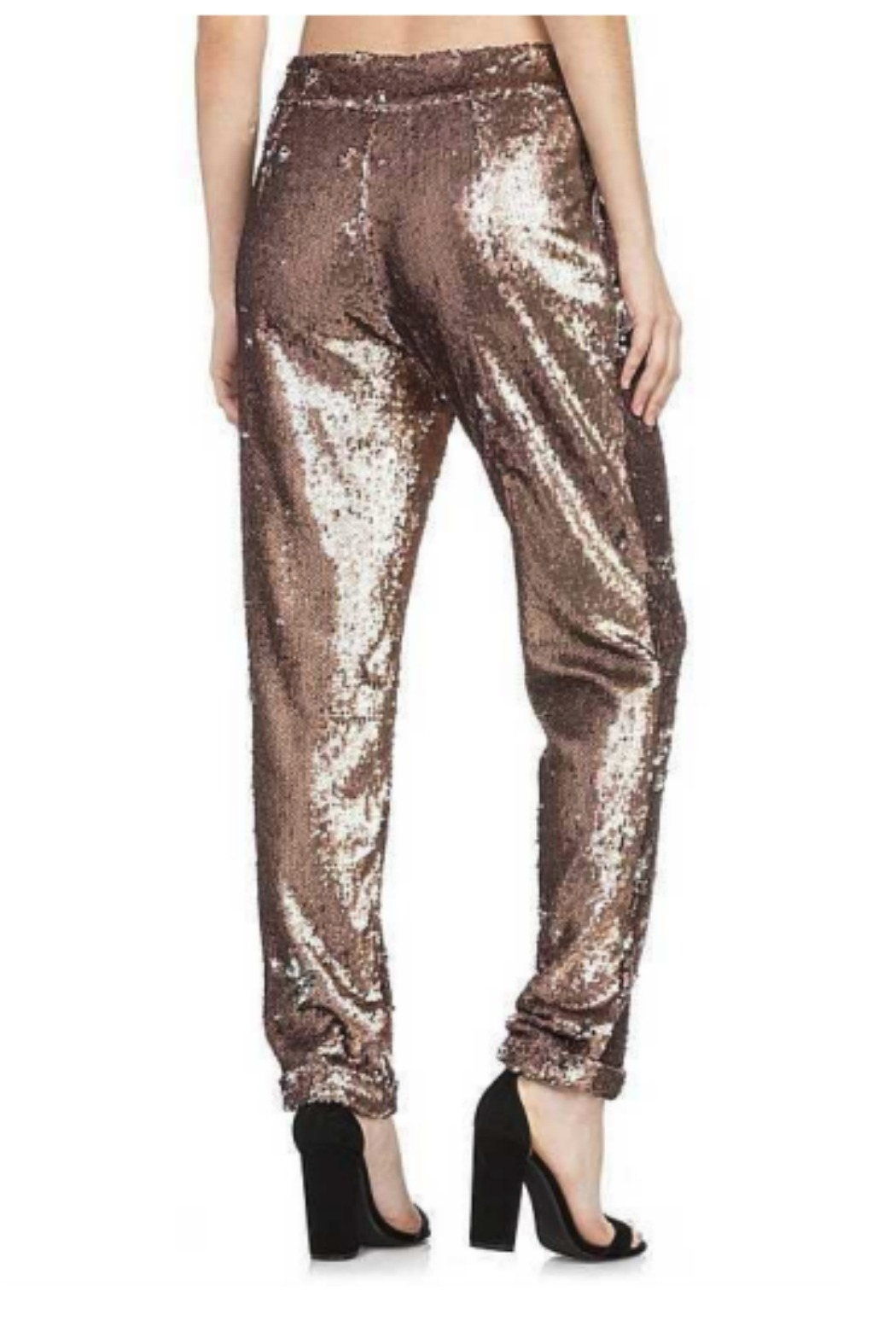 Dance and Marvel Sequin Bow Waist Pant - Front Full Image