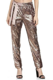 Dance and Marvel Sequin Bow Waist Pant - Front cropped