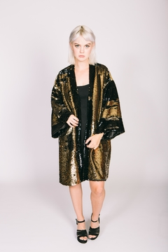 Any Old Iron Sequin Bronze Kimono - Product List Image