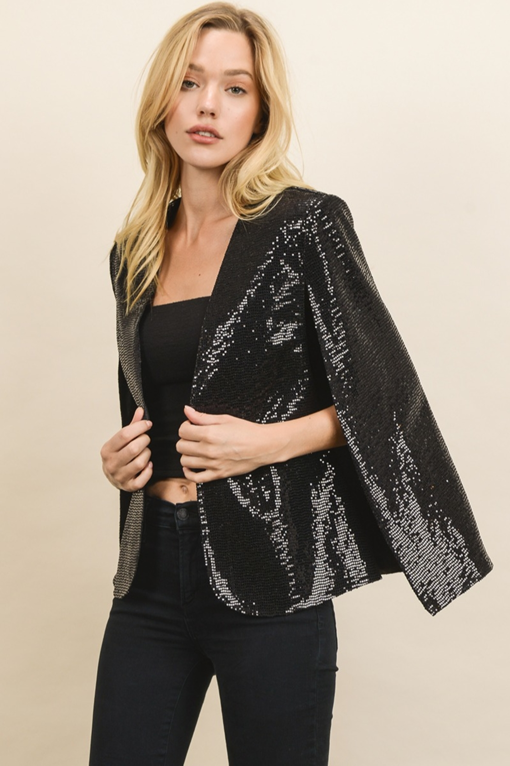 dress forum Sequin Cape Blazer - Main Image