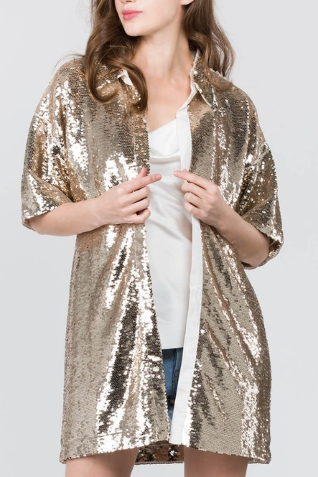 On Twelfth Sequin Cardigan - Front Cropped Image