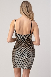 Minuet Sequin Cocktail Dress - Back cropped