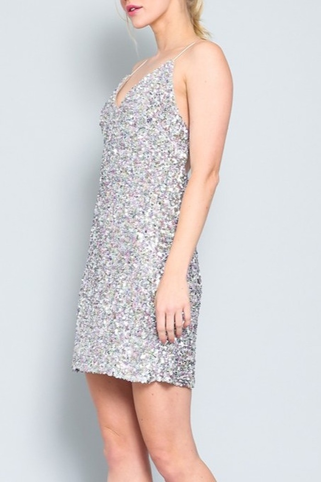 AAKAA Sequin Cocktail Dress - Side Cropped Image