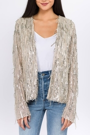 On Twelfth Sequin Collarless Blazer - Product Mini Image
