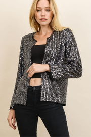 Dress Forum  Sequin Collarless Blazer - Product Mini Image