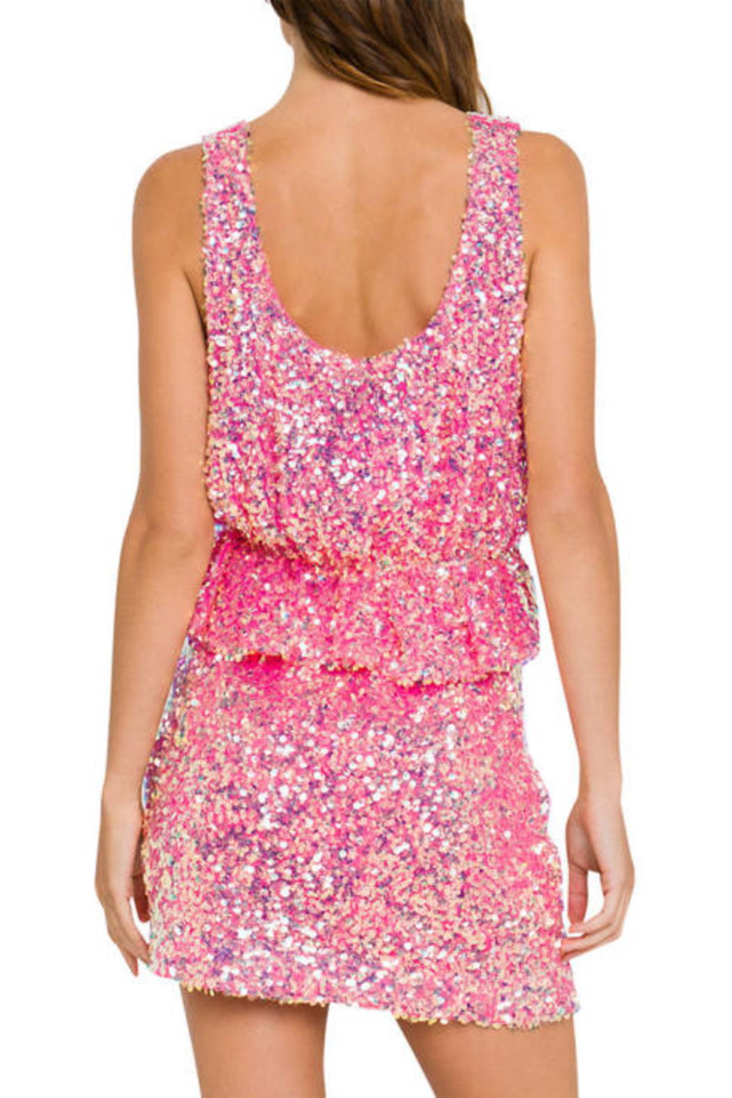 Endless Rose Sequin Crop Top - Front Full Image