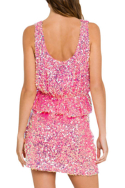 Endless Rose Sequin Crop Top - Front full body