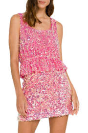 Endless Rose Sequin Crop Top - Front cropped