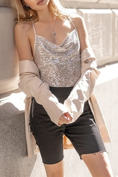On Twelfth Sequin Cross Strap Tank - Product List Image