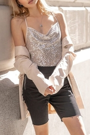 On Twelfth Sequin Cross Strap Tank - Front cropped