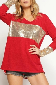 Bibi Sequin Cuff Top - Product Mini Image