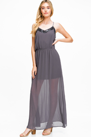 MONTREZ SEQUIN DETAIL MAXI DRESS - Product Mini Image