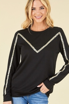 P.S Kate Sequin Detail Pullover Top - Product List Image