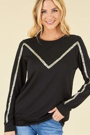 P.S Kate Sequin Detail Pullover Top - Product Mini Image