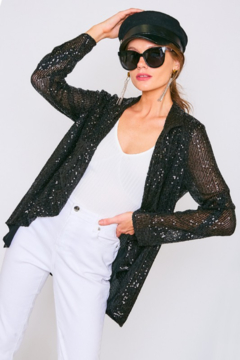 Shoptiques Product: Sequin Draped  Blazer
