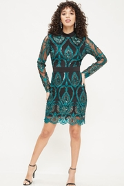 Latiste Sequin Embroidered Dress - Product Mini Image