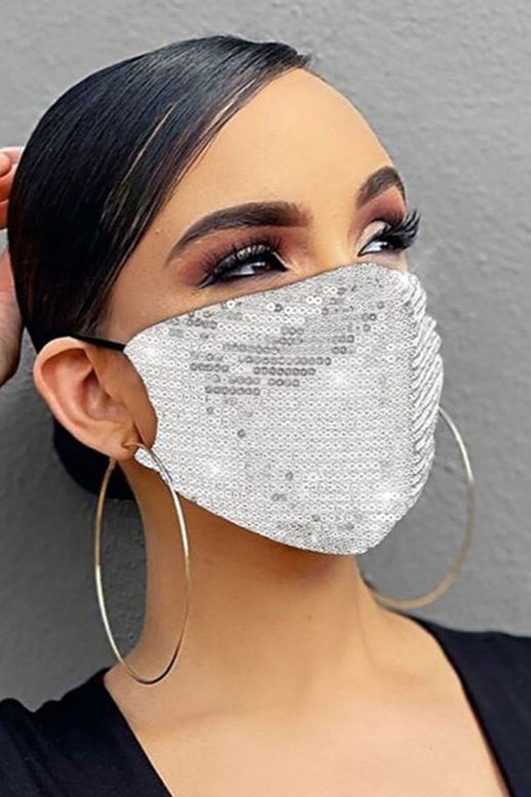 Hana Sequin Face Mask - Front Full Image