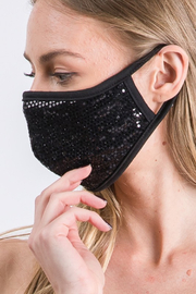 Amite  Sequin Face Mask - Front full body