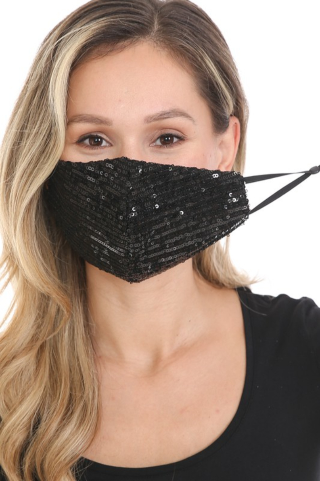 Lenovia  Sequin Face Mask - Front Cropped Image