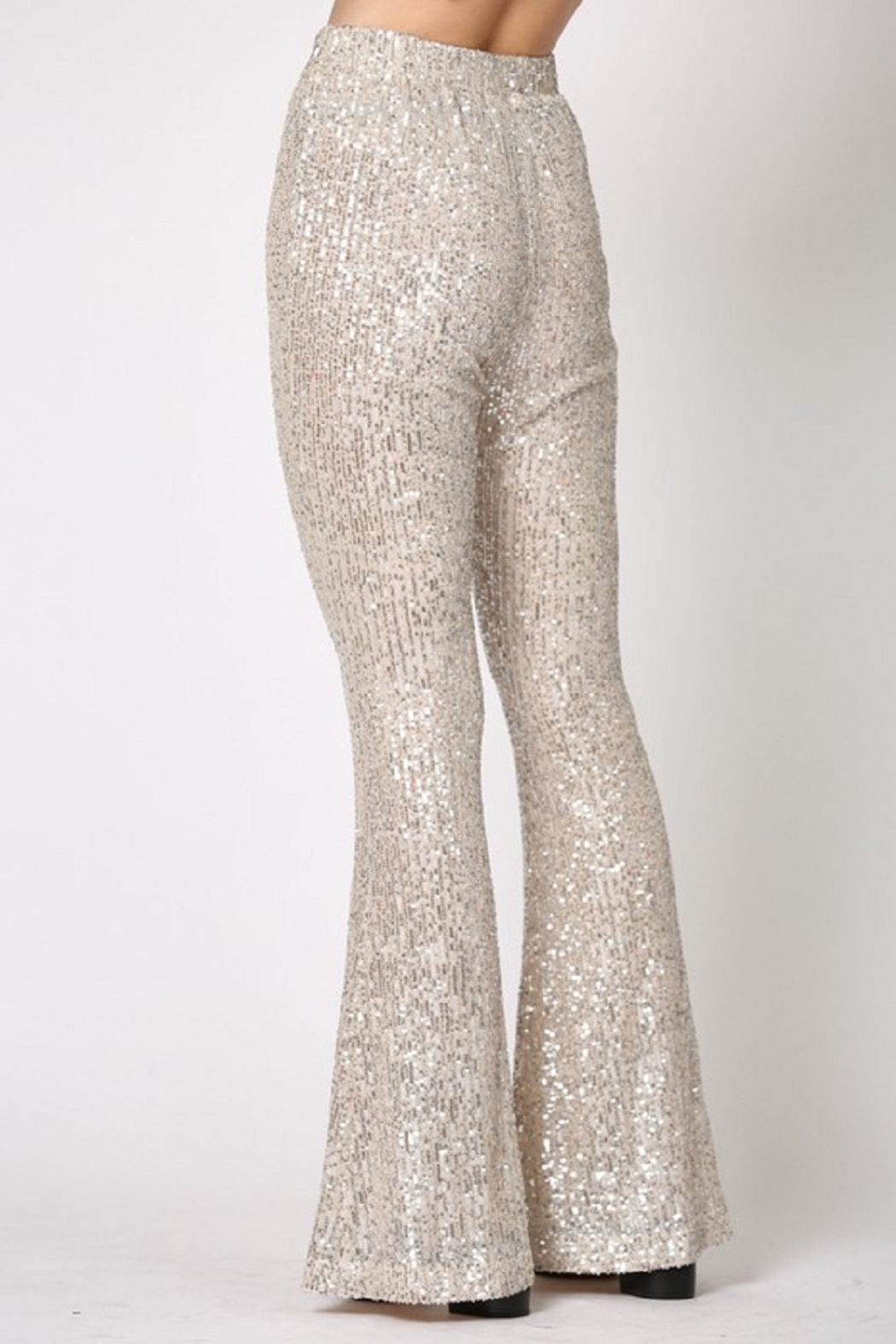 By Together  Sequin Flare Pants - Back Cropped Image