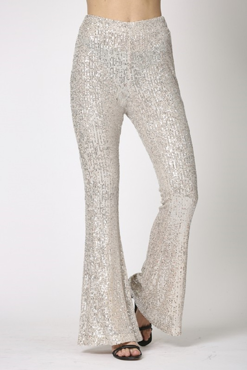 By Together  Sequin Flare Pants - Side Cropped Image