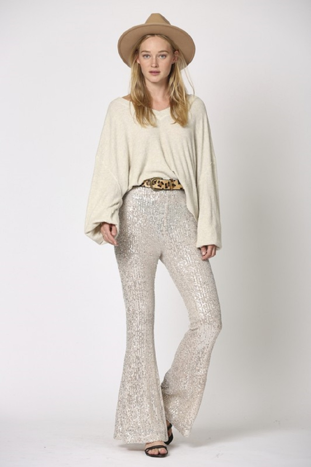 By Together  Sequin Flare Pants - Main Image