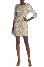 Just Me Sequin Floral-Embroidered Dress - Product Mini Image