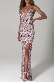 Scala Sequin Floral X-Back Gown - Front cropped