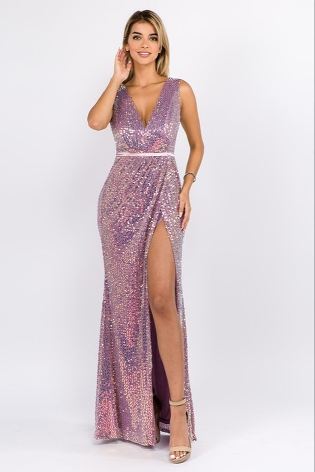 maniju Sequin Formal Gown - Front Cropped Image