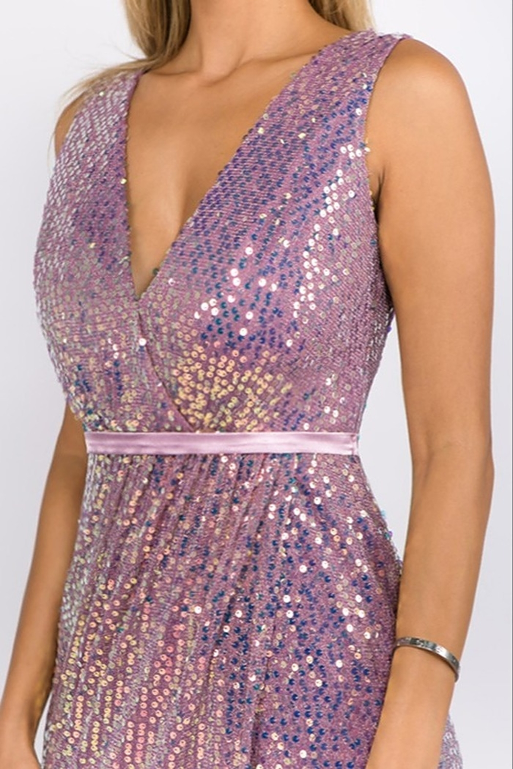 maniju Sequin Formal Gown - Front Full Image
