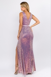 maniju Sequin Formal Gown - Back cropped