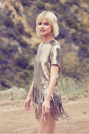 dress forum Sequin Fringe Party Tee - Back cropped