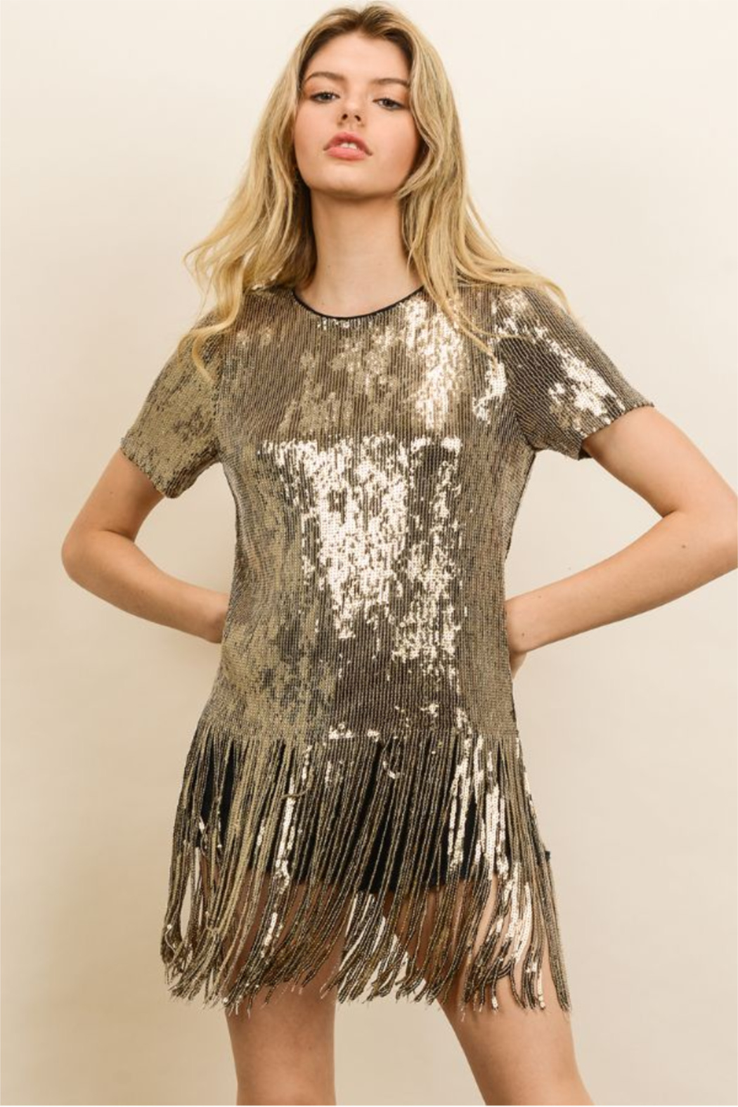 dress forum Sequin Fringe Party Tee - Main Image