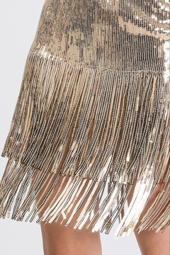 Salt Sequin Fringe Skirt - Alternate List Image
