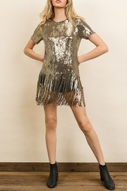 dress forum Sequin Fringe Tee - Front cropped