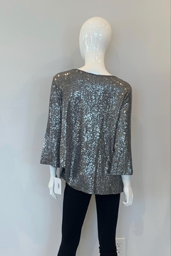 Clara sun woo Sequin Front Twist Top - Alternate List Image