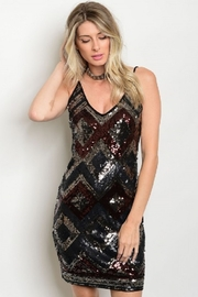 WFS Sequin Geo Patterned Short Dress - Product Mini Image