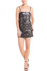 Renamed Clothing Sequin Grid Dress - Product Mini Image