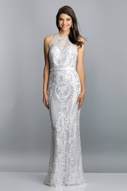 Dave and Johnny Sequin Halter Sheath Gown - Product Mini Image