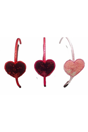 Sparkle Sisters Sequin Heart Headband - Front cropped