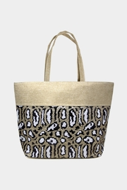 Embellish Sequin Leopard Tote - Product Mini Image