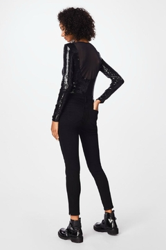 Nicole Miller Sequin Long-Sleeve Bodysuit - Alternate List Image