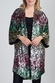 Minuet Sequin Mardi Gras Cardigan - Product Mini Image