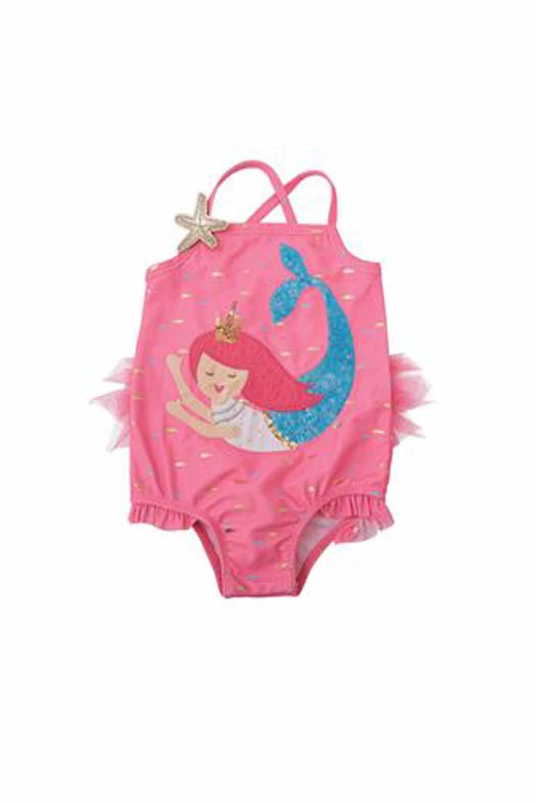 Mud Pie Sequin Mermaid Swimsuit - Front Cropped Image